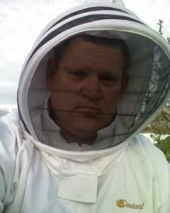The face of a not-so-happy beekeeper